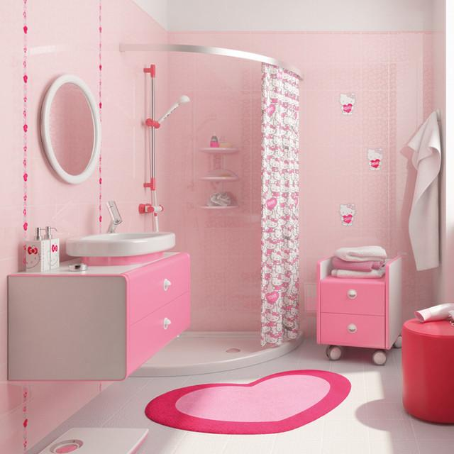kitty-bathroom2-1 5 Bathroom Designs of kids' Dreams