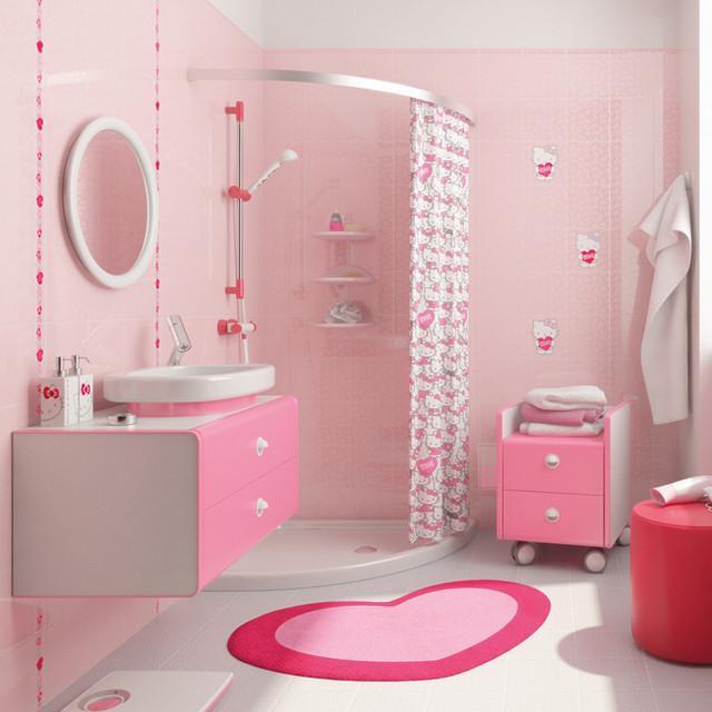 kitty-bathroom2-1 5 Bathroom Designs of kids' Dreams