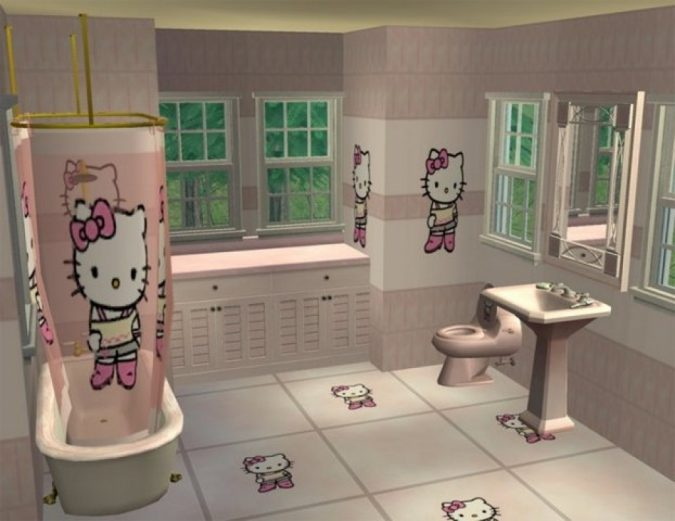 kitty-bathroom4-675x521 5 Bathroom Designs of kids' Dreams