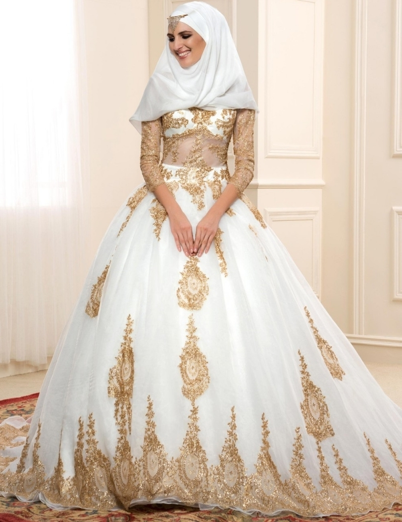online-buy-wholesale-gold-white-wedding-dress-from-china-gold-throughout-gold-egyptian-wedding-dresses-at-san-fransisco 5 Main Muslim Wedding Dresses Trends for 2018