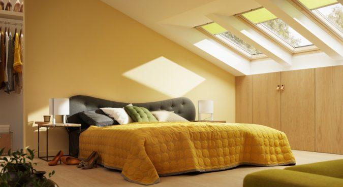 orange-bedroom-with-high-windows-675x369 Best 25+ Orange Bedroom Decor and Design Ideas in 2018