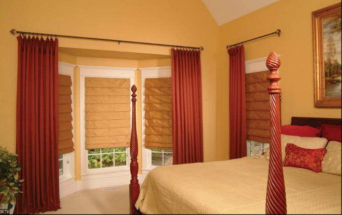 orange-bedroom-with-large-windows2-675x425 25+ Elegant Orange Bedroom Decor Ideas
