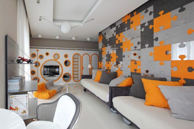 orange-bedroom-with-original-design3-675x450 Best 25+ Orange Bedroom Decor and Design Ideas in 2018