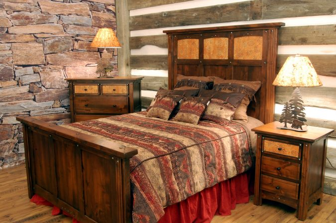 perfect-rustic-orange-bedroom-has-rustic-bedroom-675x448 Best 25+ Orange Bedroom Decor and Design Ideas in 2018