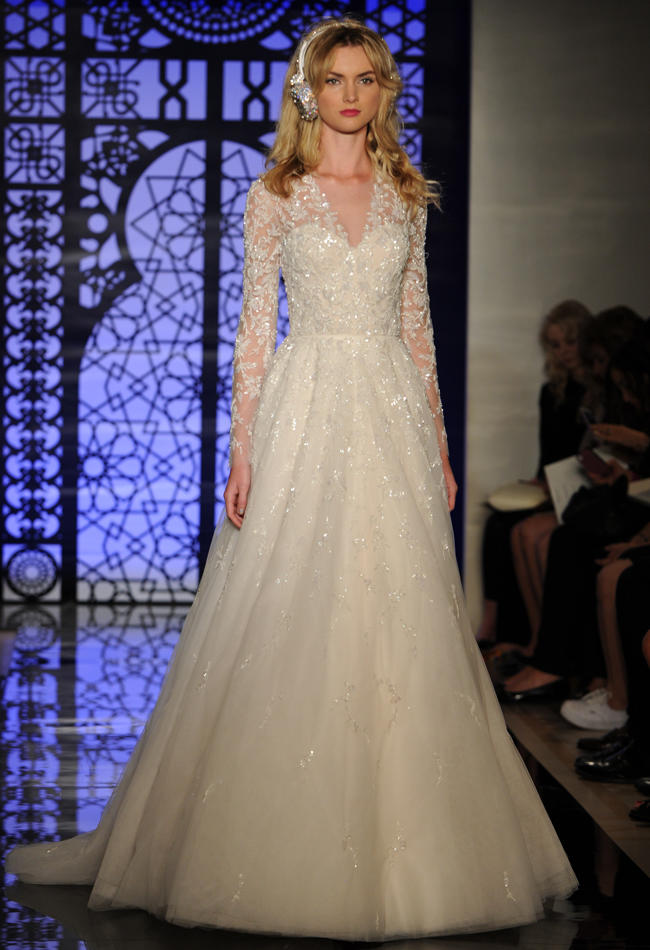 wedding-dress-Reem-Acra +25 Wedding dresses Design Ideas for a Gorgeous-looking Bride in 2020