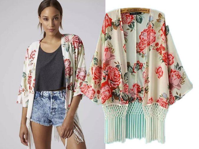 2015-Fashion-Women-Spain-style-Chiffon-Kimono-Cardigan-Tassel-Regular-Big-Floral-Print-Women-Loose-Blouse-675x506 +40 Elegant Teenage Girls Summer Outfits Ideas in 2021