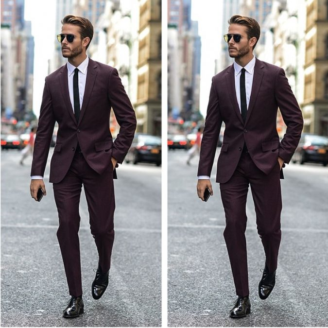 2016-Tailor-Made-font-b-Burgundy-b-font-font-b-Men-b-font-font-b-Suits-1-675x675 14 Splendid Wedding Outfits for Guys in 2017