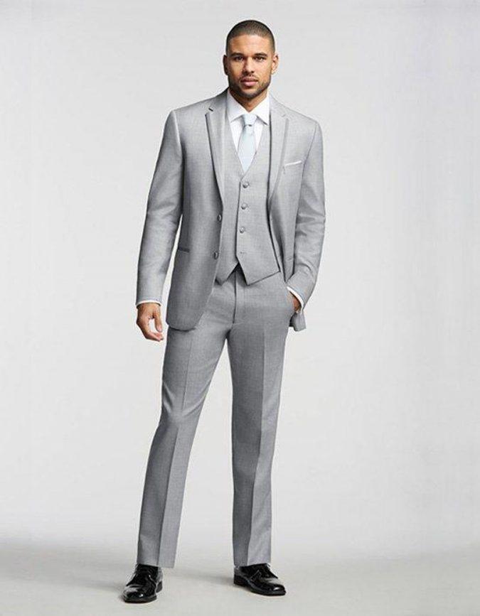 2017-Yeni-erkek-Moda-Casual-Suit-Setleri-Gri-Ccedil-675x867 14 Splendid Wedding Outfits for Guys in 2017