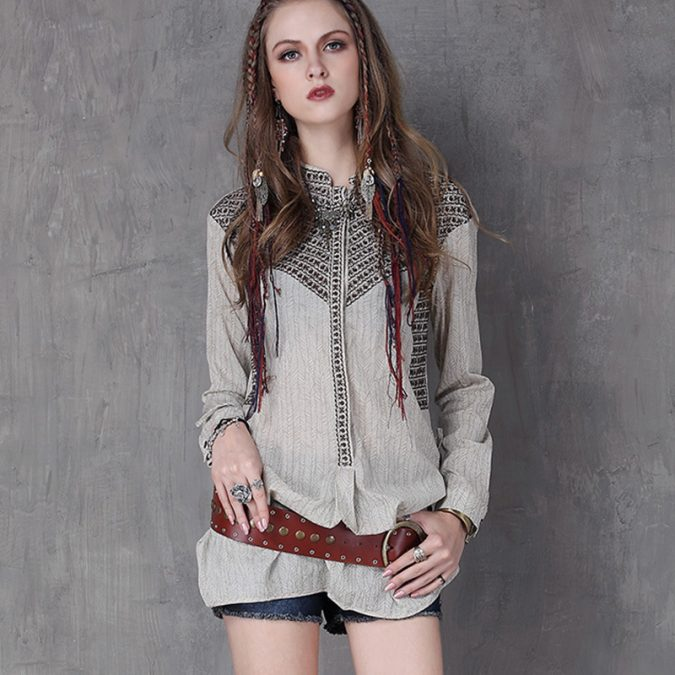 Boho-Shirts-675x675 +40 Elegant Teenage Girls Summer Outfits Ideas in 2021