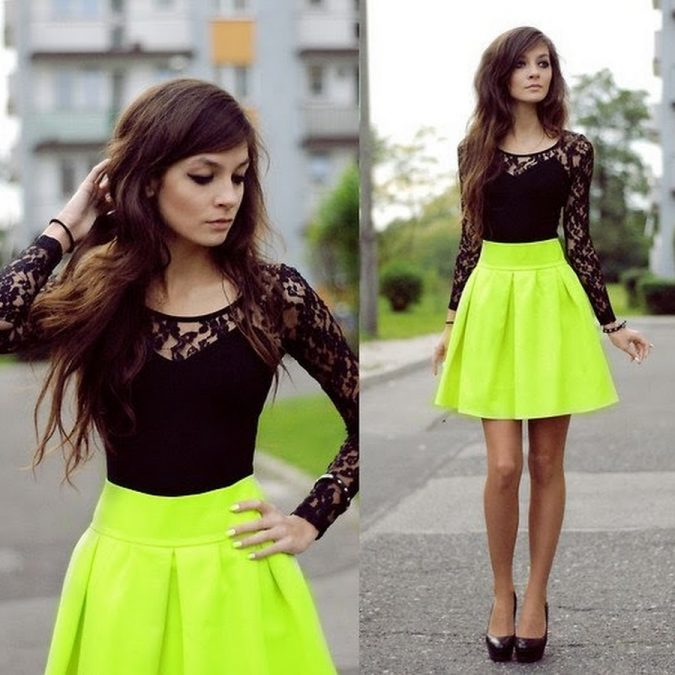 Bright-Colored-Short-Dresses-675x675 +40 Elegant Teenage Girls Summer Outfits Ideas in 2021