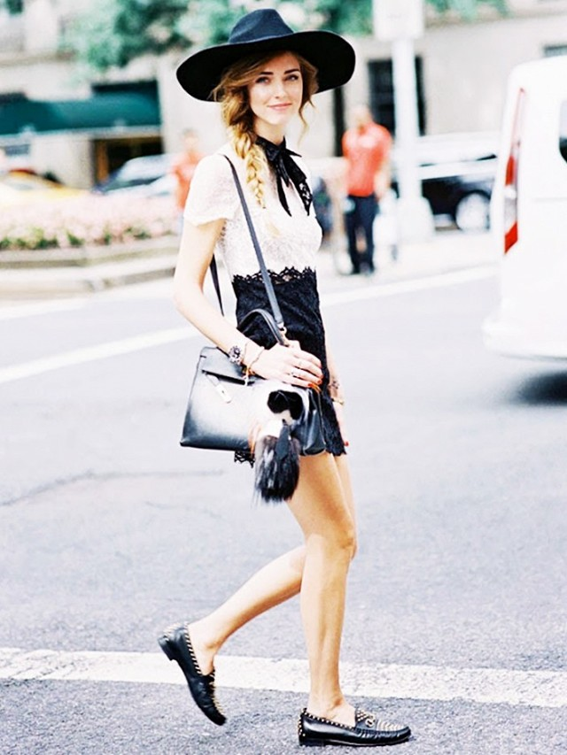 Brim-Hat-with-Dress2 +40 Elegant Teenage Girls Summer Outfits Ideas in 2021