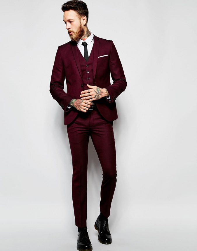 Burgundy-Suit2-675x861 14 Splendid Wedding Outfits for Guys in 2021