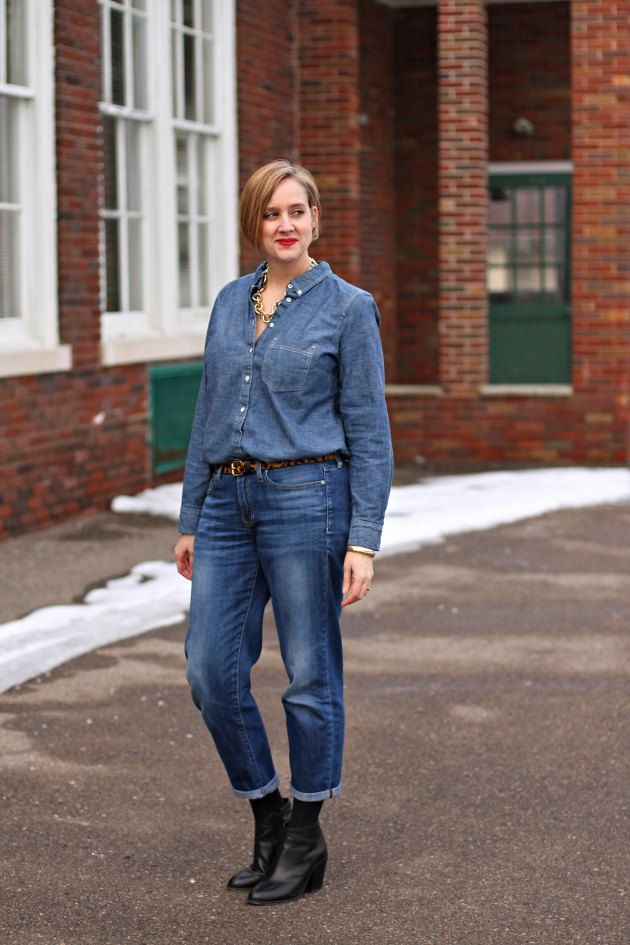 Chambray-shirt2 6 Fabulous Outfits for Women Over 40