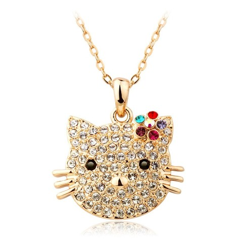 Christmas-Promotion-T400-k-gold-plated-hello-kitty-cute-crystal-pendant-necklace-women-W1002-retail-and-475x475 How To Hide Skin Problems And Wrinkles Using Jewelry?