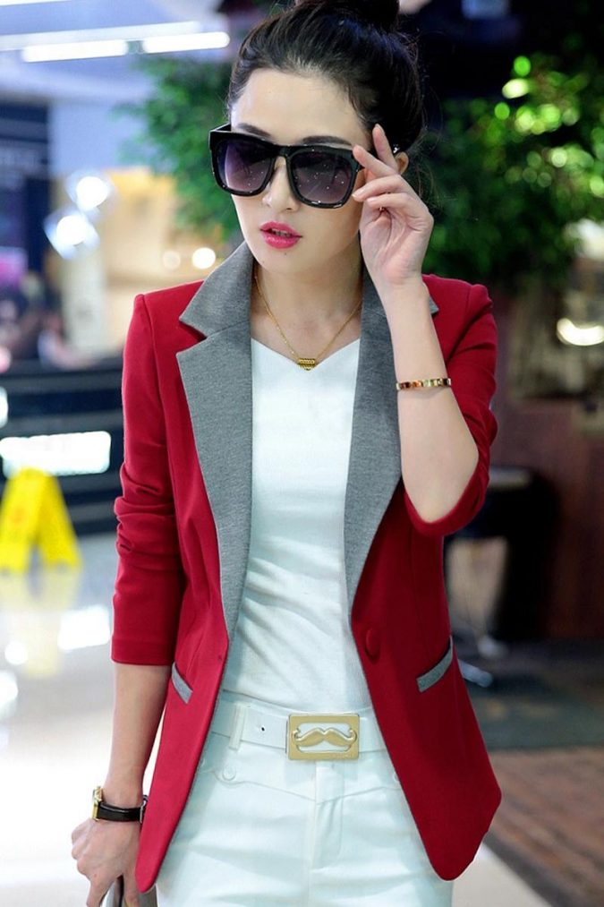Colored-Blazer-675x1013 18 Work Outfits Every Working Woman Should Have