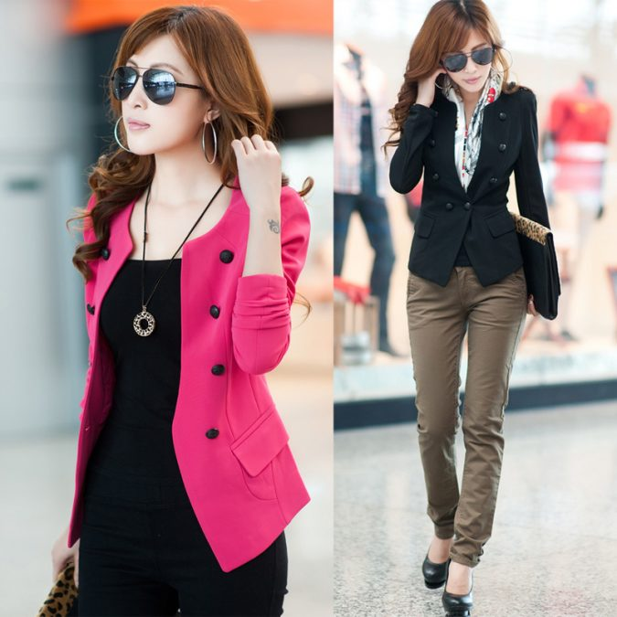 Colored-Blazer3-675x675 18 Work Outfits Every Working Woman Should Have