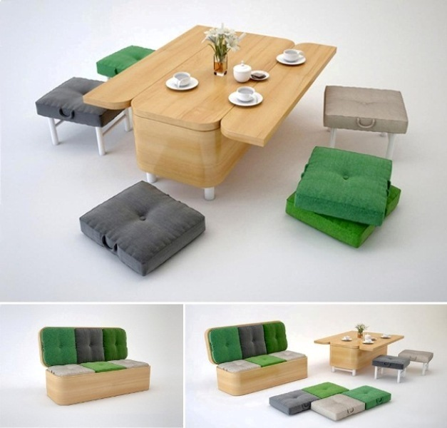 Convertible-Sofa 83 Creative & Smart Space-Saving Furniture Design Ideas in 2017