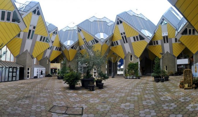 Cubic-Houses-Netherlands-675x399 15 Most Creative Building Designs in The World in 2019