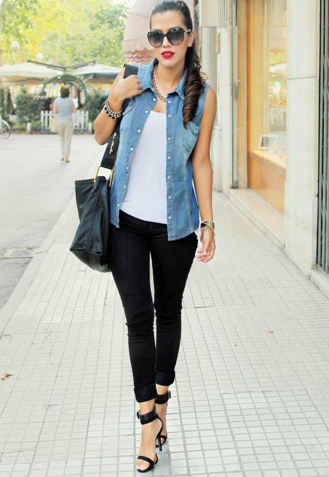 Denim-Jacket-ideas-for-ladies-9 +40 Elegant Teenage Girls Summer Outfits Ideas in 2021