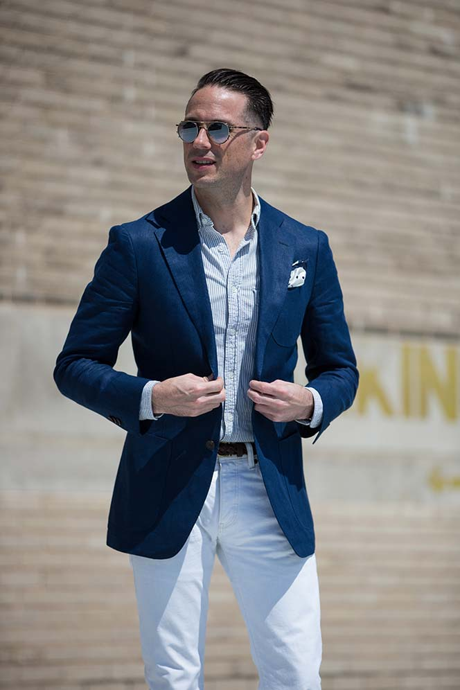 Denim-pants-with-blazer2 14 Splendid Wedding Outfits for Guys in 2020