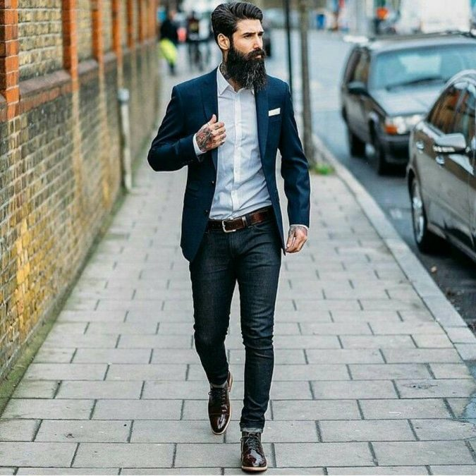 Denim-pants-with-blazer3-675x675 14 Splendid Wedding Outfits for Guys in 2017