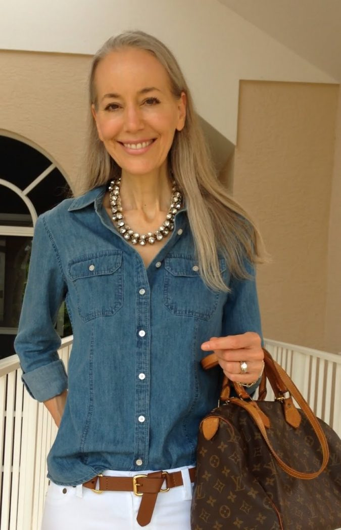 Denim-shirt3-675x1048 6 Fabulous Outfits for Women Over 40