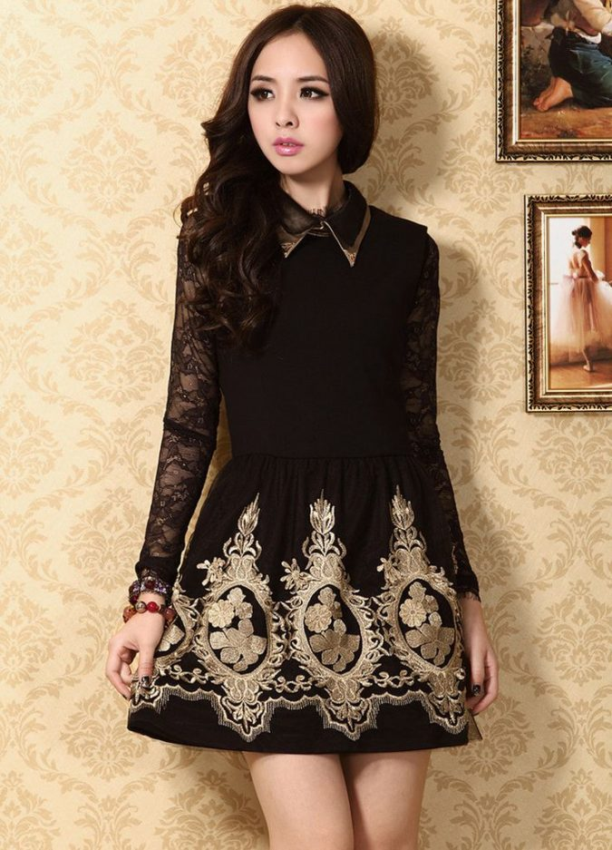 Embroidered-dress2-675x937 +40 Elegant Teenage Girls Summer Outfits Ideas in 2021