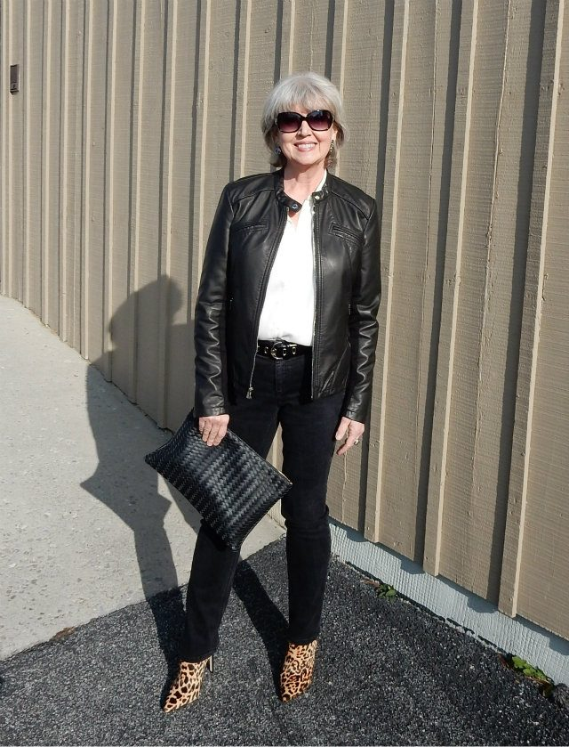 Fifty-Not-Frumpy-Black-Leather-Jacket 6 Fabulous Outfits for Women Over 40