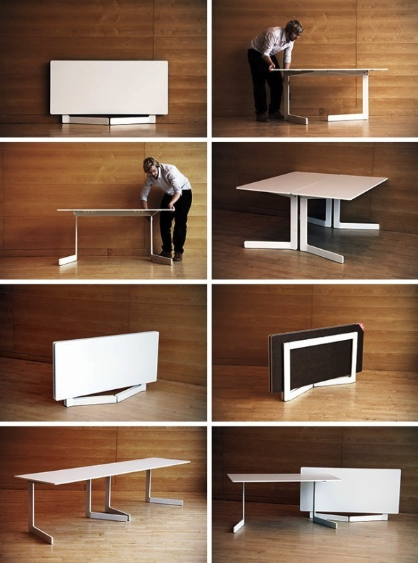 Foldable-dining-table 83 Creative & Smart Space-Saving Furniture Design Ideas in 2020