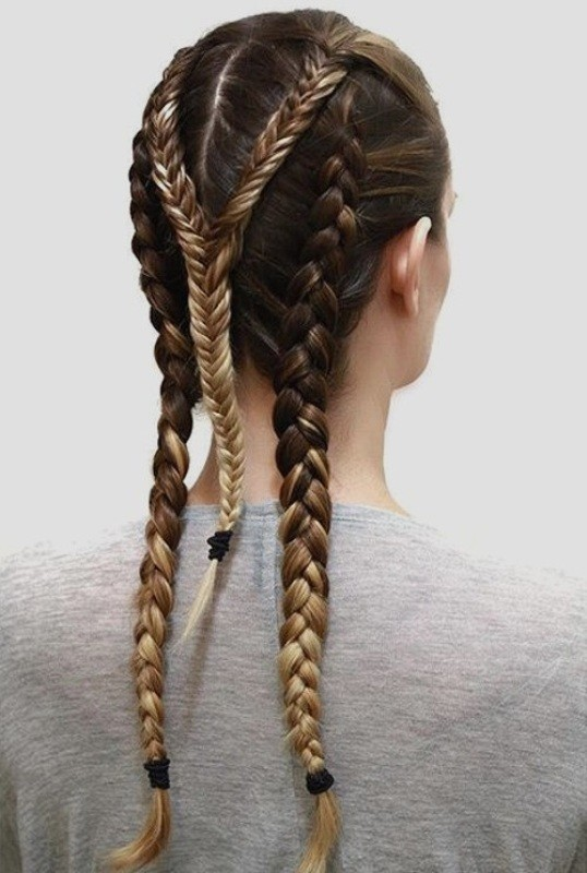 French-and-Dutch-braids-4 28 Hottest Spring & Summer Hairstyles for Women 2020