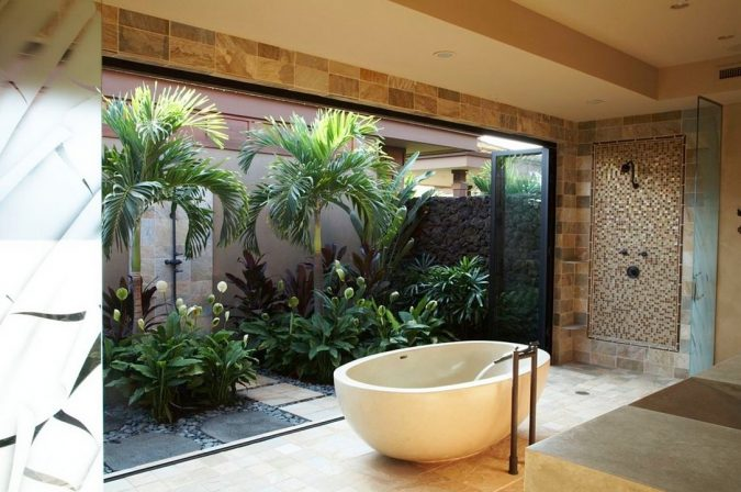 Garden-Bathtub2-675x448 6 Bathtub Designs that will Make your Jaw Drops!
