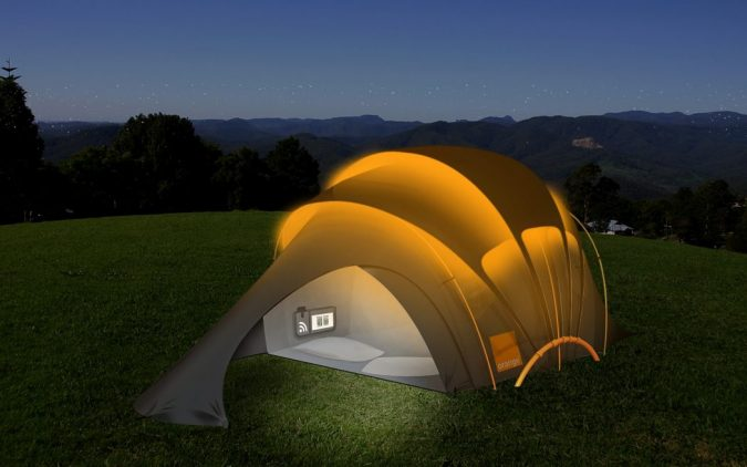 Glowing-Camping-Tent-675x422 12 Unusual Solar-Powered Products in 2017