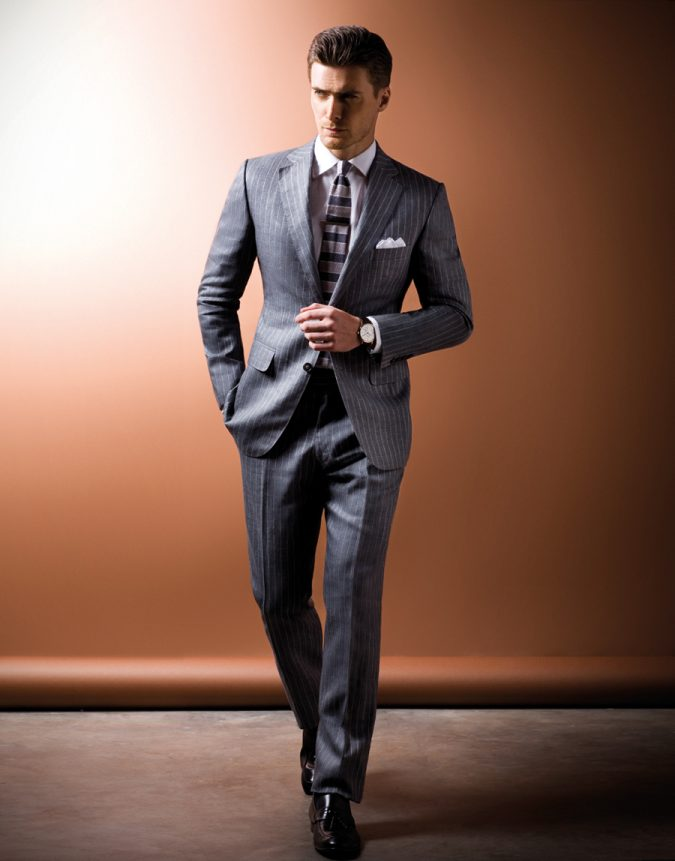 Gray-linen-Suit2-675x861 14 Splendid Wedding Outfits for Guys in 2017