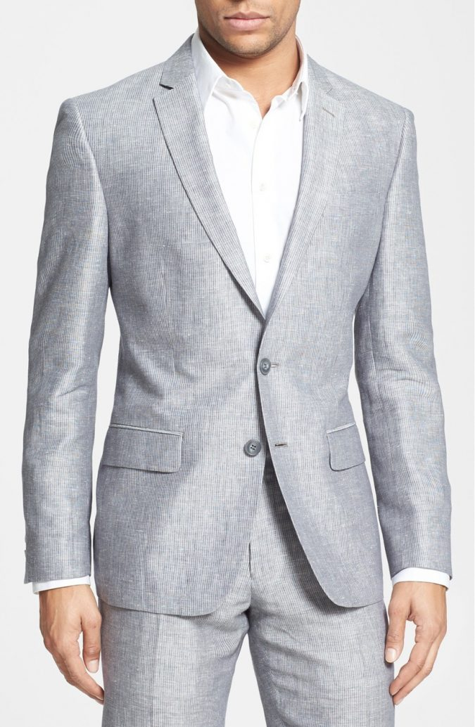 Gray-linen-Suit3-675x1034 14 Splendid Wedding Outfits for Guys in 2017