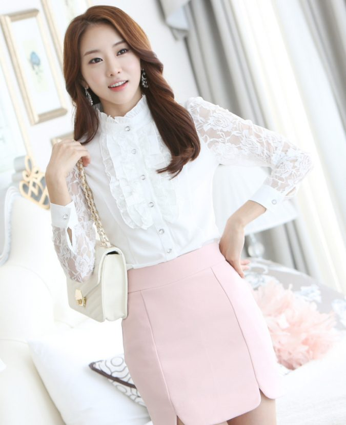 High-Neck-Blouse-and-Pencil-Skirt-675x829 18 Work Outfits Every Working Woman Should Have