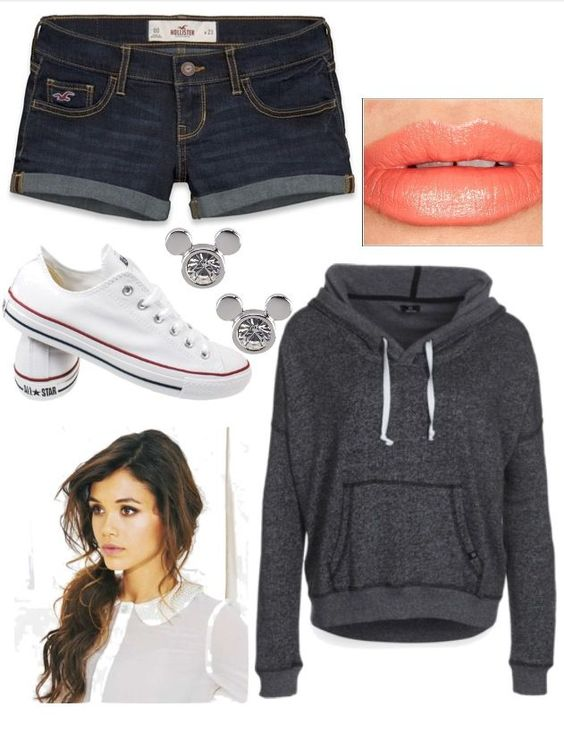 Hoods-with-Shorts +40 Elegant Teenage Girls Summer Outfits Ideas in 2021