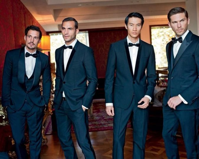 Navy-Satin-Suits-675x539 14 Splendid Wedding Outfits for Guys in 2020