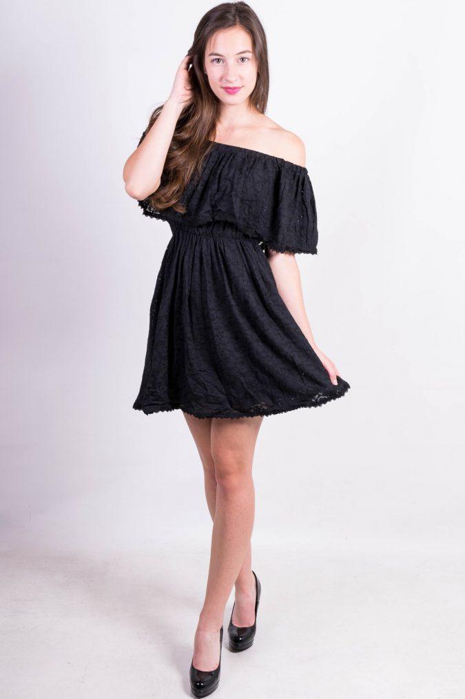 Off-Shoulder-Dress-675x1013 +40 Elegant Teenage Girls Summer Outfits Ideas in 2021