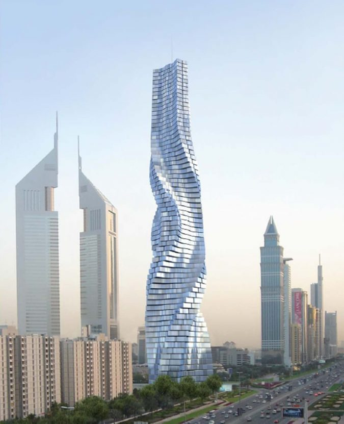 Rotating-Tower-UAE-675x831 15 Most Creative Building Designs in The World in 2019