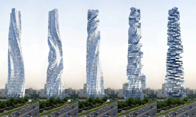 Rotating-Tower-UAE2-675x404 15 Most Creative Building Designs in The World in 2018