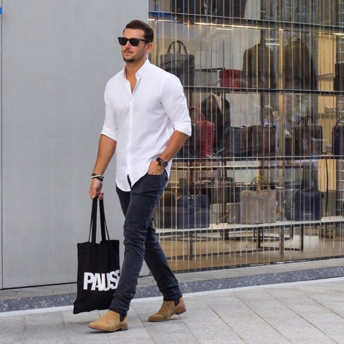 Skinny-jeans-with-a-classic-shirt-675x675 10 Most Stylish Outfits for Guys in Summer 2018