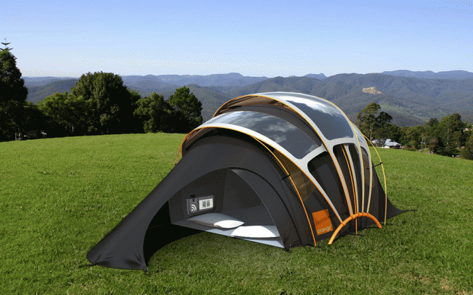 Solar-Powered-Tent-Orange-Concept-Tent-675x422 12 Unusual Solar-Powered Products in 2018
