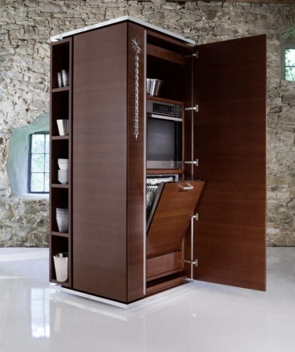 Space-Saving-kitchen-design 83 Creative & Smart Space-Saving Furniture Design Ideas in 2020
