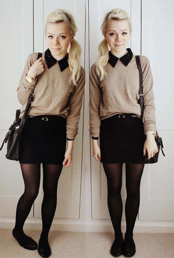 Sweater-over-a-Shirt 18 Work Outfits Every Working Woman Should Have