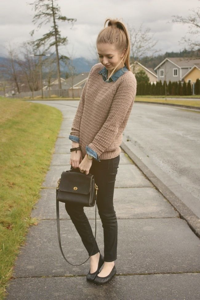 Sweater-over-a-Shirt2 18 Work Outfits Every Working Woman Should Have