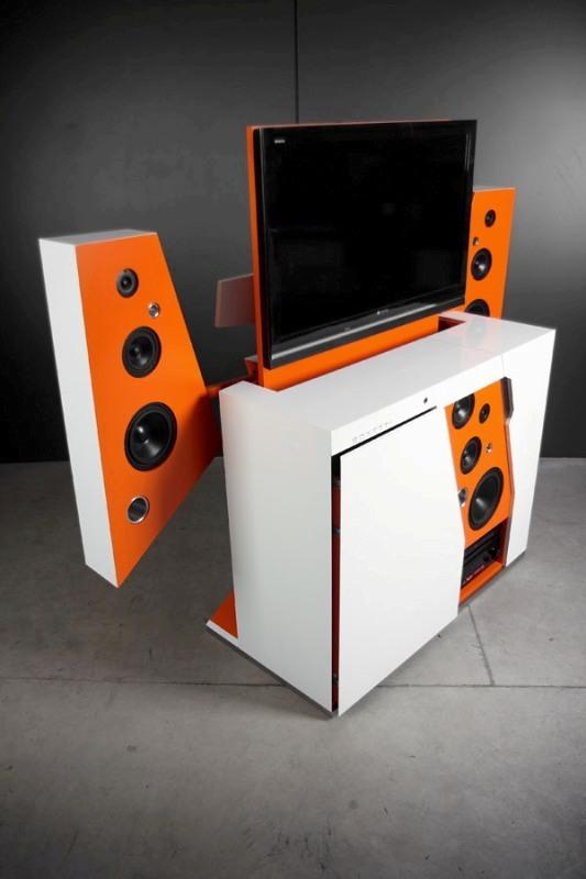 TV-set 83 Creative & Smart Space-Saving Furniture Design Ideas in 2020
