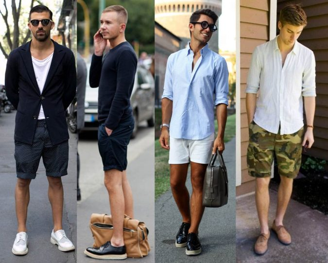 Trendin_mens-brogues_shorts-675x541 Elegant Fashion Trends of Men Summer Shoes 2018