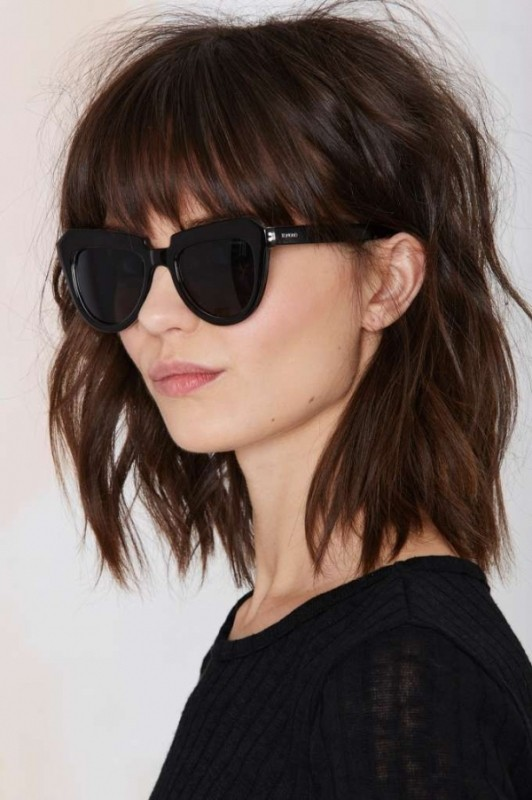 bangs-6 28 Hottest Spring & Summer Hairstyles for Women 2020