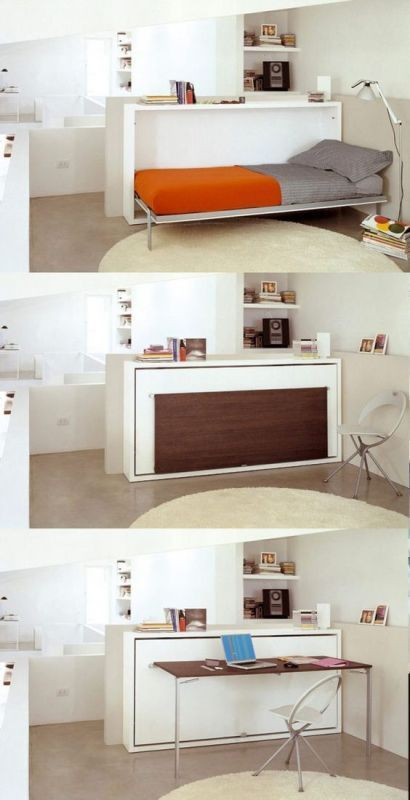 bed-desk 83 Creative & Smart Space-Saving Furniture Design Ideas in 2017