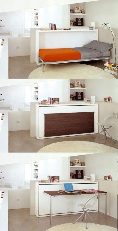 bed-desk 83 Creative & Smart Space-Saving Furniture Design Ideas in 2020